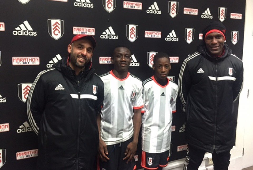 A Team Of Players Selected From The Ark Globe Academy Fulham Fc Elite Development Centre Has Drawn   With A Team From Fulham Academy